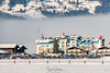 Confusing landscape - Flachau, Austria (Henk Verheyen) Tags: a austria flachau wintersport buiten outdoor sneeuw snow salzburg oostenrijk at hotel landscape landschap opvallend showy mist fog berg mountain building gebouw
