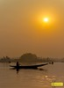 Dal Lake Sunset (Kostas Trovas) Tags: composition color sunset ruleofthirds nature mist srinagar minimal canon tones light landscape instagram emptyspace boat sky tree india sun kashmir mistyatmosphere outdoors fog lake selectionfromindiatrip water dallake
