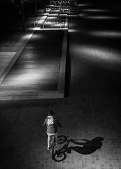 (XBeauPhoto) Tags: cycle london city citylife concourse cyclist fujix100f linear lines minimal minimalism monochromatic monochrome perspective shadow shadowplay shadows streetphoto streetphotography urban
