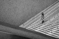 Walking down the aisle alone (jeffclouet) Tags: paris france europe capital nikon nikkor d7100 city cuidad ville downtown street rue calle stairs steps escaleras escaliers alone seul soledad monochrome bw nb pb triangle triangulo walking geometric geometrique symmetry urbano urbain urban people personas personnes streetshot streetpic streetphotography geometrico geometry gradas montparnasse bnw
