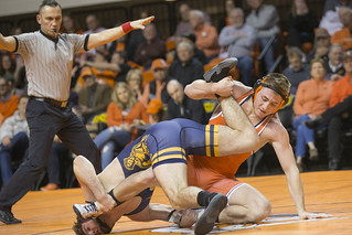 Oklahoma State Cowboys vs West Virginia Mountaineers Wrestling Dual, Friday, January 19, 2018, Gallagher-Iba Arena, Stillwater, OK. Bruce Waterfield/OSU Athletics