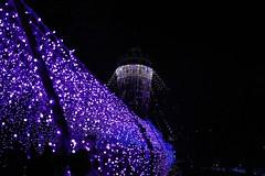Road and Tower (tez-guitar) Tags: light lighthouse road illumination nightscape night seacandle pentax pentaxart enoshima kanagawa