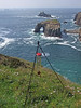 Wind chimes set up for recording on Pordenack Point cliffs (Philip_Goddard) Tags: views scenery landscapes coastpath coast southwestcoastpath nationaltrail southwestway westcoast europe unitedkingdom britain british britishisles greatbritain uk england southwestengland cornwall penwith landsendpeninsula landsend pordenackpoint armedknight enysdodnan recording longships windchimes