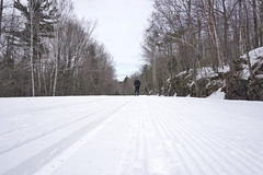 Back on the snow trails (beyondhue) Tags: gatineau park parc trail crosscountry xcountry ski beyondhue winter snow quebec canada
