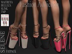 SELENE SHOES @ .Suicide DollZ. (Owner Fashion Addiction) Tags: shoes suicidedollz belleza maitreya slink tmp fashionaddiction hourglass isis venus freya physique secondlife event scarpe