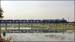 Reflection TRAIN !! (sany20005) Tags: indianrailways railroad railways rails railwaystation railphoto railroads railwayscenes railfan gywdg4 wdg4 wdg4locomotive wdg4photo piglet reflection canonphotography canon canoneos600d canonphoto rail