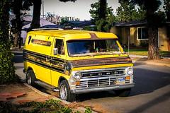 Custom Vanin' Dreamin' (fe2cruz) Tags: custom van 70s classic iphone cellphone yellow vanning pinstripe pinstriping econoline eseries ford 2ndgen sundaylights