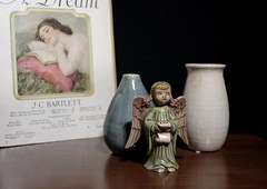 Singing Angel (N.the.Kudzu) Tags: home tabletop stilllife sheetmusic pottery vases angel figurine pentaxk3