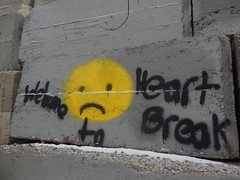 Heart Break (eileenmak) Tags: calgary bowriver stormdrain graffiti