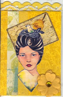 Lady in Yellow atc