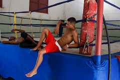 Matanzas, Cuba (jaumescar) Tags: matanzas cuba boxing men fight red sport ring boxer boxeo fit man people resting pose handsome color fighters
