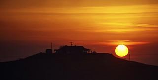 Sun settling over Snow Ranch