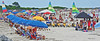 on the beach (albyn.davis) Tags: vacation travel people panorama beach umbrellas colors colorful blue summer weather chairs lounging
