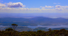 BLUE MOUNTAIN VIEW (Lani Elliott) Tags: sundaylights nature naturephotography landscape view city hobart mountain mountainview bluesky scenic sky cloud clouds kunanyi mountwellington trees water river derwentriver scenictasmania awesome beautiful gorgeous brilliant wow superb