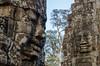 Bayon faces, Angkor temple - Cambodia (Miouzz) Tags: angkor temple cambodge cambodia bayon ruines pierre stone