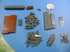 Lego parts haul from the mail. (tekmoc17) Tags: lego parts moc custom bricks ww2 grey gray haul mail lot