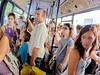 7.6 Billion (Kurayba) Tags: corfu town greece kerkyra bus people 76 billion population many faces random few pentax k5 da 1017 fisheye f3545 smcpdafisheye1017mmf3545edif public transportation transport κέρκυρα ελλαδα humans