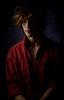 Chiaroscuro (Ita Mar Photos) Tags: model male light dark pose studio amsterdam hat shadow clairobscur chiaroscuro