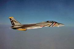 VF-2 F-14A Tomcat BuNo 159829 (skyhawkpc) Tags: navy usn naval aviation aircraft airplane usnavy grumman vf2bountyhunters f14a tomcat 159829 nk201 inflight