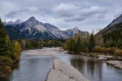 Mount Lorette, Kananaskis River (martincarlisle) Tags: mountlorette kananaskisriver kananaskiscountry alberta canada canadianrockies rockymountains rockies rivers mountains clouds cloudy trees autumn fall sonycameras captureone tkactions sigmaex2830dnnex cloudsstormssunsetssunrises
