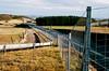 Maissau (Harald Reichmann) Tags: niederösterreich maissau landschaft strase berg zaun analog film olympusom4 verkehr mobilität wald linie