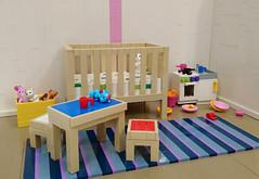 Children's Room (Heksu) Tags: lego childrens room toy crib
