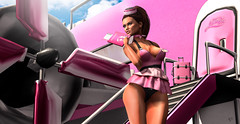 First class (meriluu17) Tags: foxcity astralia pink firt class firstclass airport plane fly flying stairs steward sexy cute baby people outdoor
