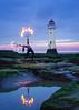 Fire Dancer at Perch Rock Lighthouse (priceycles) Tags: perchrocklighthouse newbrighton fire dancer sunset twilight lighthouse