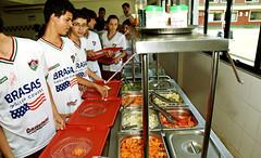 fluminense.com.br (Fluminense F.C.) Tags: futebol visita criança crianças refeitório restaurante