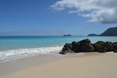 Turquoise Hawaiian Beach (trailwalker52) Tags: hawaii oahu beach bellows turquoise ocean relaxing calm tranquil peaceful beautiful scenic picturesque rocks rabbitisland waimanalo