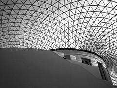 British Museum, London (Steven K. Hearn) Tags: architecture windows roofs shadows museums britishmuseum london england blackandwhite monochrome