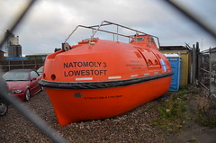Natomoly 3 (Sam Tait) Tags: lifeboat lifeboats offshore boat vessel natomoly 3 ships ship rig oil drop life preserver sealed lowestoft carwash hand porta loo toilet orange escape pod
