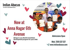 Indian Abacus 6th Avenue Anna Nagar West, Chennai (Ind-Abacus) Tags: abacus mental mind math maths arithmetic division q new invention online learning basheer ahamed coaching indian buy tutorial national franchise master tutor how do teacher training game control kids competition course entrepreneur student indianabacuscom