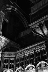 Piecing together... St Bartholomew the Great - London (Lauren Taliana) Tags: building dark shadows shadow arch atmospheric existinglight dimlylit mono old history historical stbartholomewthegreat stbartholomew blackwhite noiretblanc blackandwhite bw architecture interior london priory church nikon nikkor flickr elements