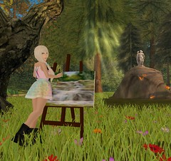 hobby time (sophie phoenix amos) Tags: painting teen secondlife fun art