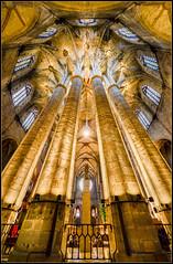 Santa María del Mar (Totugj) Tags: nikon d5100 sigma 816mm catedral iglesia igreja church chiesa église santa maría del mar barcelona españa barrio gótico