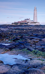 St Mary's Lighthouse (CEWWtyke) Tags: lighthouse saintmarys stmarys saint marys causeway rocks rockpools sand sky houses island tide tyne wear tyneandwear northumberland uk england britain greatbritain whitleybay sea northsea coast coastal beach tyneside baitisland bait trinityhouse trinity house ocean building rock landscape water outdoor