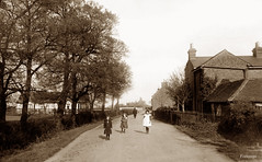 Canewdon (footstepsphotos) Tags: canewdon village essex girl road old vintage photograph past historic