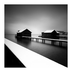 Stilt Houses 2.1 (ArztG.|Photo) Tags: austria atmosphere attersee arztg|photo fineartphotography winter snow lake silence stilthouses bnwphotography bnwphoto yup