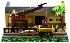 Cocovia Wagonway - ETTC Warehouse (Ayrlego) Tags: lego brethrenofthebrickseas bobs ettc cocovia