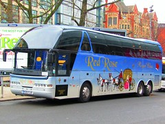 Red Rose Royal Class Travel, Neoplan Starliner Coach (Gary Chatterton 4 million Views) Tags: redrosetravel royalclass neoplanstarliner coach railreplacementservice northernrail manchester manchesterpiccadillystation bus publicservicevehicle publictransport vehicle citycentre flickr photography canonpowershot explore amateur