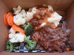 Ricky's Pot Roast Dinner (knightbefore_99) Tags: food lunch work pot roast dinner takeout takeaway mashed potato carrot tasty best great vancouver bc beef