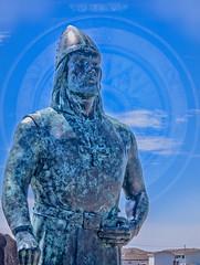 The Viking (Brett of Binnshire) Tags: sculpture historicalsite lanseauxmeadows canada newfoundland statue art locationrecorded on1raw composite compass bronze on1