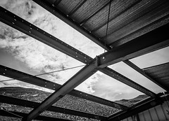 Skylight (dwblakey) Tags: sky california monochrome owensvalley blackandwhite mining structures easternsierra exploring history buildings outdoors inyocounty bishop junk tungstenhills unitedstates us