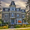 Plattsburgh New York -  W. W. Hartwell House & Dependencies - AKA - Regina Maria Retreat House  - Brinkerhoff Street (Onasill ~ Bill Badzo) Tags: clintoncounty plattsburgh newyork ny w hartwell house dependencies mansion aka regina maria retreat historic nrhp architecture style 1870 stone elaborate mansard roof second empire victorian park landscape cottage carriage seat town attraction tourist travel hudsonriver onasill canon sl1 sigma 18250mm macro lens tower