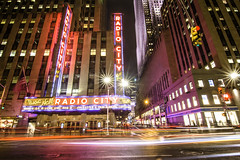 Radio City 33/365 (stevemolder) Tags: radio city hall manhattan traffic long exposure