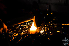 (K&S proudly presents) Tags: forging blacksmith forge fire night steel hammer
