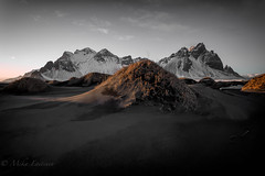 Silver mountain (Mika Laitinen) Tags: canon5dmarkiv europe iceland leendgrad stokksnes vestrahorn beach blacksand landscape mountain nature outdoors sky sunset easternregion is