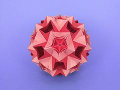 Paragon var. (masha_losk) Tags: kusudama кусудама origamiwork origamiart foliage origami paper paperfolding modularorigami unitorigami модульноеоригами оригами бумага folded symmetry design handmade art