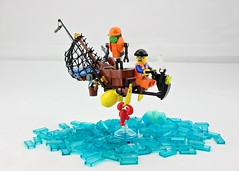 """""""Flying Fisherman"""" Hoverscooter (Deltassius) Tags: lego moc speederbike flying motorcycle district 18"""